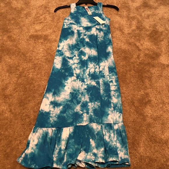 Beautees Other - Girls' Blue Tie-die Maxi Dress